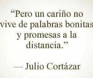 distancia, promesas, and frases image