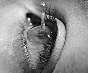 eye ball and water droplett image