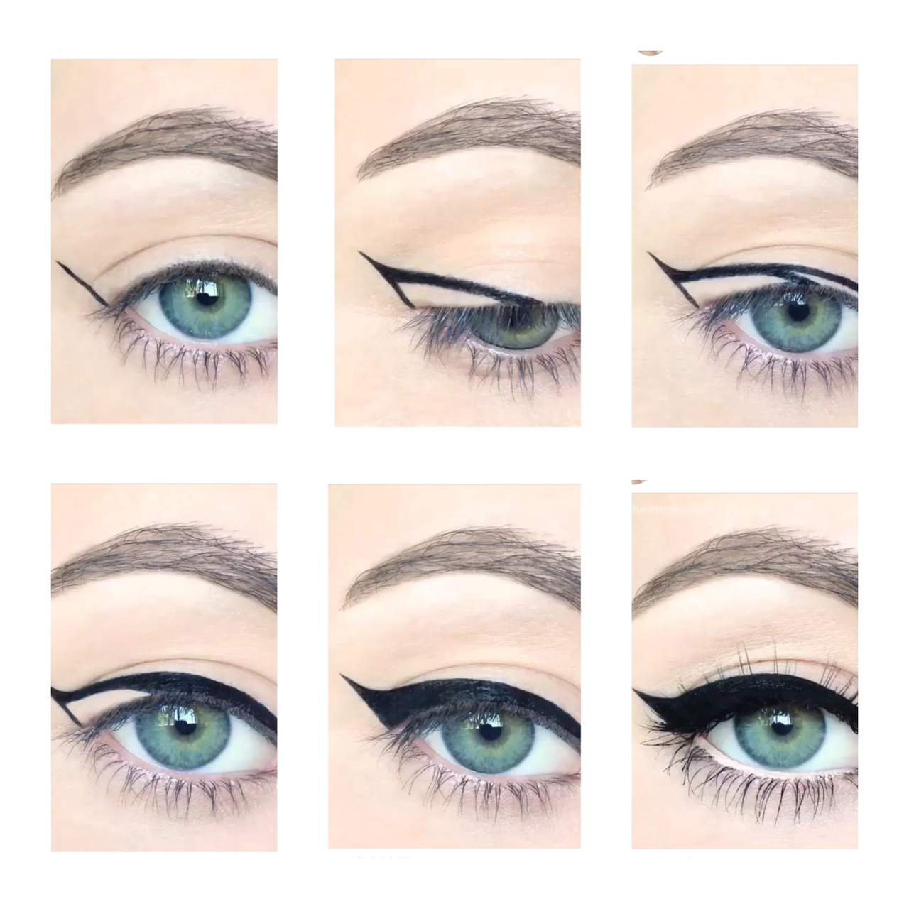 Steps On How To Do A Perfect Cat Eye On We Heart It