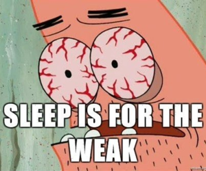 sleep, funny, and patrick image
