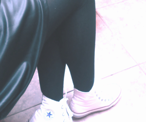 black, clothe, and convers image