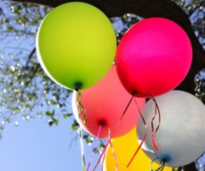 ballons, girly, and colorful image