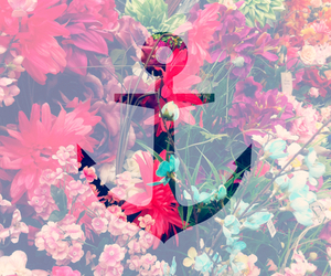flowers, summer, and anchor image