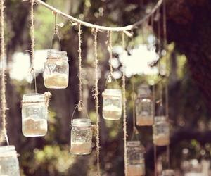 candles, mason jars, and tumblr image
