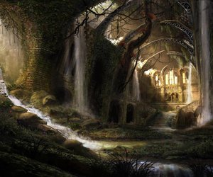 fantasy, forest, and art image