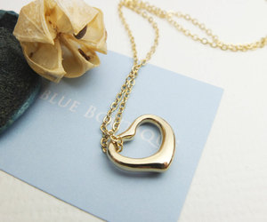 gift, gold, and heart image