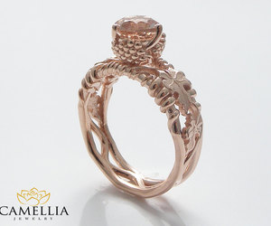 wedding ring, engagement ring, and solitaire ring image