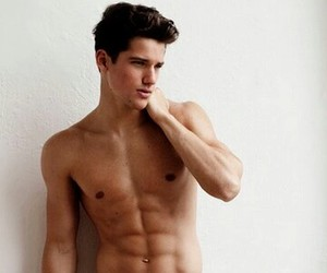 abs, hair, and tumblr guys image