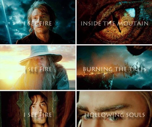 i see fire, the hobbit, and ed sheeran image