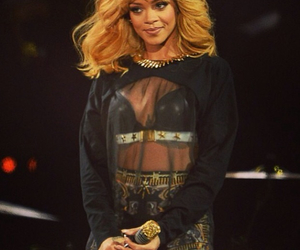 rihanna and blonde and gold image