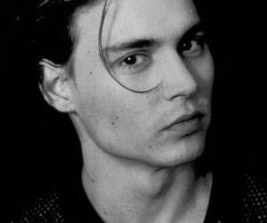 actor, black and white, and johnny depp image