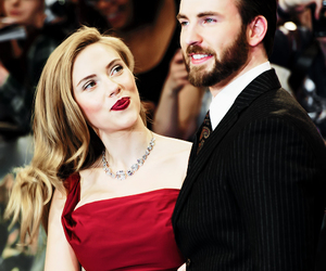 chris evans, Scarlett Johansson, and black widow image