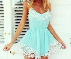dress, blue, and summer image