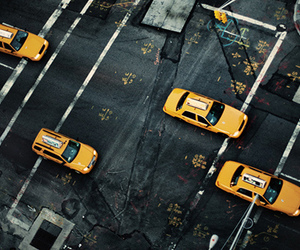 city, taxi, and new york image