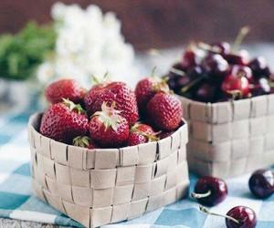 cherry, strawberry, and yummy image