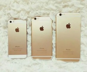 chic, gold, and iphone image