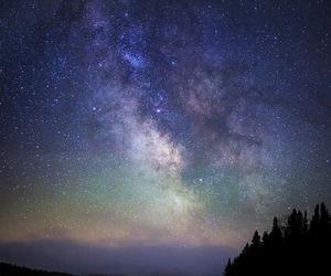 sky, stars, and lake image