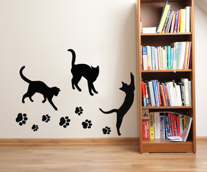 cats, kitten, and paw prints image