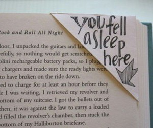 book, bookmark, and sleep image