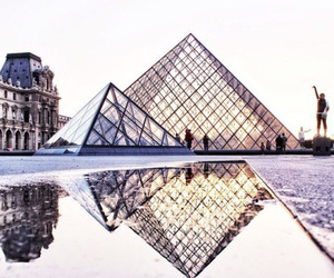 louvre, paris, and pyramide image