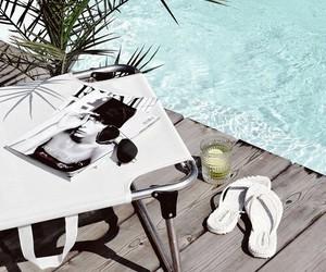 summer, pool, and magazine image
