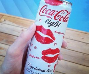 coca cola, kiss, and coca-cola image