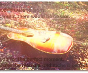 beautiful, guitar, and quote image