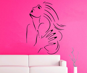 living room decor, hot model, and wall decals image