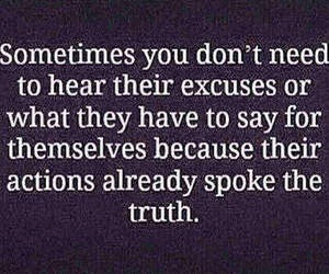 excuses, truth, and actions image
