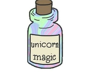 unicorn, magic, and overlay image