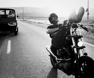 black, man, and road image