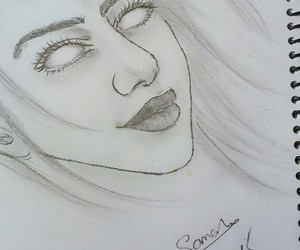 black and white, drawing, and eyes image