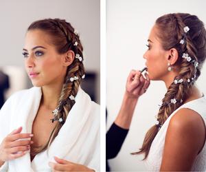 braid, hair, and summer image