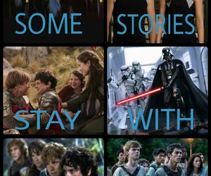 films, star wars, and hunger games image