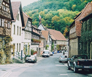 cars, green, and street image