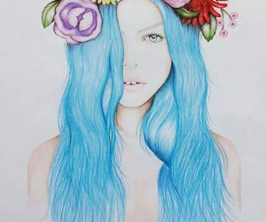cool, draw, and flower image