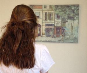 art, beautiful, and brunette image