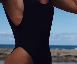 body, black, and beach image