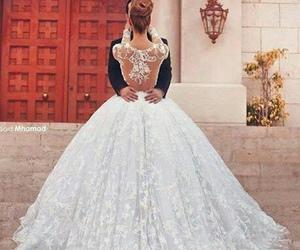 wedding, dress, and white image