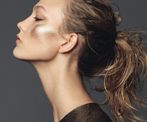 Karlie Kloss, model, and gold image