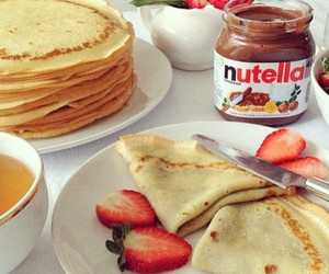 food, nutella, and breakfast image