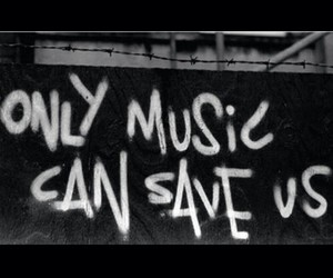 music, save, and black image