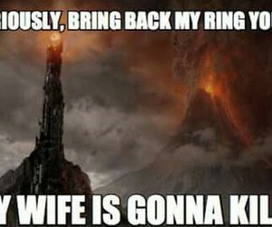 funny, sauron, and the lord of the rings image