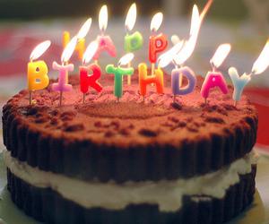 cake, happy birthday, and chocolate image
