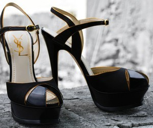 shoes, YSL, and heels image