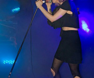 Alice Glass, black clothes, and dark image