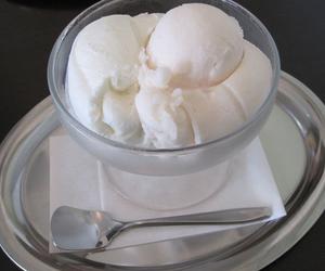 ice cream, vanilla, and food image