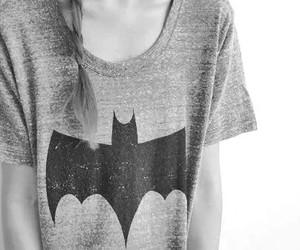 batman, girl, and t-shirt image