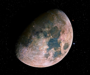 moon, space, and stars image