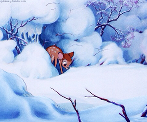 bambi and winter image